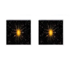 Star Christmas Advent Decoration Cufflinks (square)