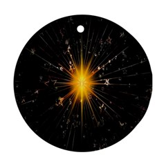 Star Christmas Advent Decoration Round Ornament (Two Sides)