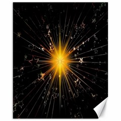Star Christmas Advent Decoration Canvas 16  X 20