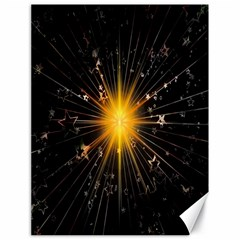 Star Christmas Advent Decoration Canvas 18  x 24
