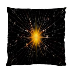 Star Christmas Advent Decoration Standard Cushion Case (One Side)