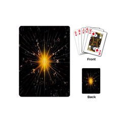 Star Christmas Advent Decoration Playing Cards (Mini)