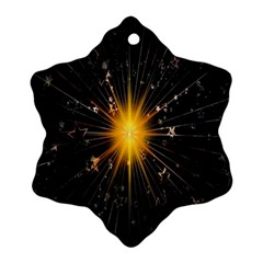 Star Christmas Advent Decoration Ornament (Snowflake)