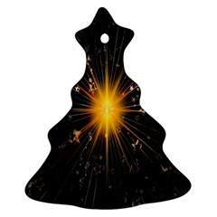 Star Christmas Advent Decoration Christmas Tree Ornament (two Sides)