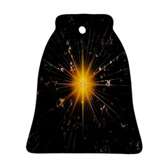 Star Christmas Advent Decoration Bell Ornament (two Sides)
