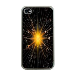 Star Christmas Advent Decoration Apple Iphone 4 Case (clear)