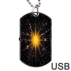 Star Christmas Advent Decoration Dog Tag USB Flash (One Side)