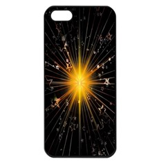 Star Christmas Advent Decoration Apple iPhone 5 Seamless Case (Black)