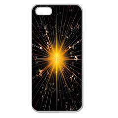 Star Christmas Advent Decoration Apple Seamless Iphone 5 Case (clear)