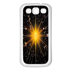 Star Christmas Advent Decoration Samsung Galaxy S3 Back Case (White)