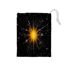 Star Christmas Advent Decoration Drawstring Pouches (medium)