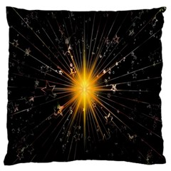 Star Christmas Advent Decoration Standard Flano Cushion Case (one Side)
