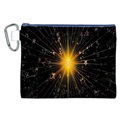 Star Christmas Advent Decoration Canvas Cosmetic Bag (XXL)