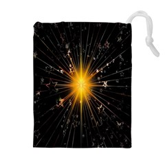 Star Christmas Advent Decoration Drawstring Pouches (Extra Large)
