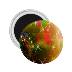 Star Christmas Background Image Red 2.25  Magnets