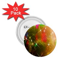 Star Christmas Background Image Red 1.75  Buttons (10 pack)