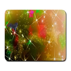Star Christmas Background Image Red Large Mousepads