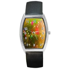 Star Christmas Background Image Red Barrel Style Metal Watch