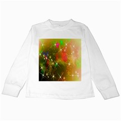 Star Christmas Background Image Red Kids Long Sleeve T Shirts