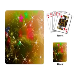 Star Christmas Background Image Red Playing Card
