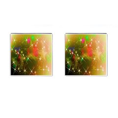 Star Christmas Background Image Red Cufflinks (Square)
