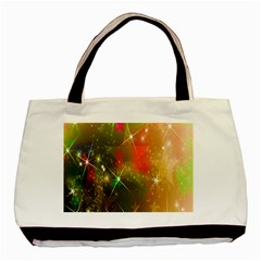 Star Christmas Background Image Red Basic Tote Bag