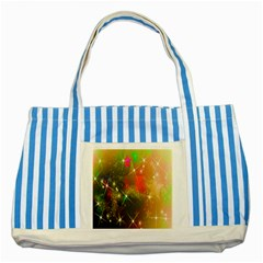 Star Christmas Background Image Red Striped Blue Tote Bag