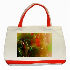 Star Christmas Background Image Red Classic Tote Bag (Red)