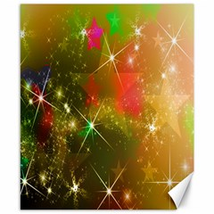 Star Christmas Background Image Red Canvas 8  x 10