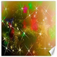 Star Christmas Background Image Red Canvas 20  X 20
