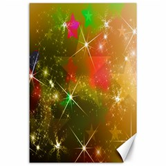 Star Christmas Background Image Red Canvas 24  x 36
