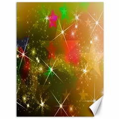 Star Christmas Background Image Red Canvas 36  x 48