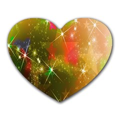 Star Christmas Background Image Red Heart Mousepads