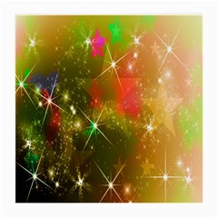 Star Christmas Background Image Red Medium Glasses Cloth (2-Side)