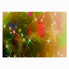 Star Christmas Background Image Red Large Glasses Cloth (2-Side)