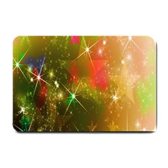 Star Christmas Background Image Red Small Doormat