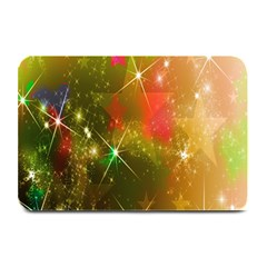 Star Christmas Background Image Red Plate Mats