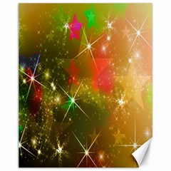 Star Christmas Background Image Red Canvas 11  X 14