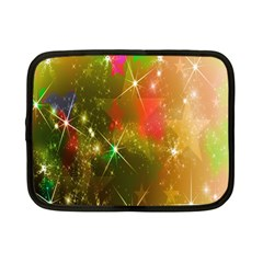 Star Christmas Background Image Red Netbook Case (small)