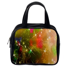 Star Christmas Background Image Red Classic Handbags (one Side)