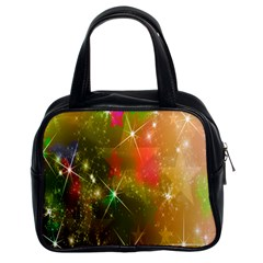 Star Christmas Background Image Red Classic Handbags (2 Sides)