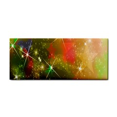 Star Christmas Background Image Red Cosmetic Storage Cases