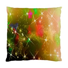 Star Christmas Background Image Red Standard Cushion Case (Two Sides)