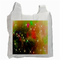 Star Christmas Background Image Red Recycle Bag (two Side)