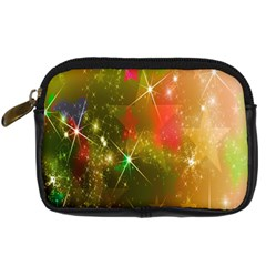 Star Christmas Background Image Red Digital Camera Cases