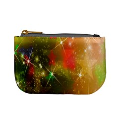 Star Christmas Background Image Red Mini Coin Purses