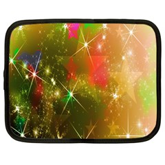 Star Christmas Background Image Red Netbook Case (xl)