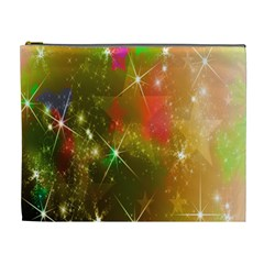 Star Christmas Background Image Red Cosmetic Bag (XL)