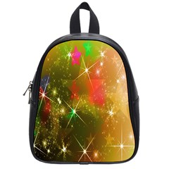 Star Christmas Background Image Red School Bags (Small)