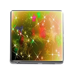 Star Christmas Background Image Red Memory Card Reader (square)